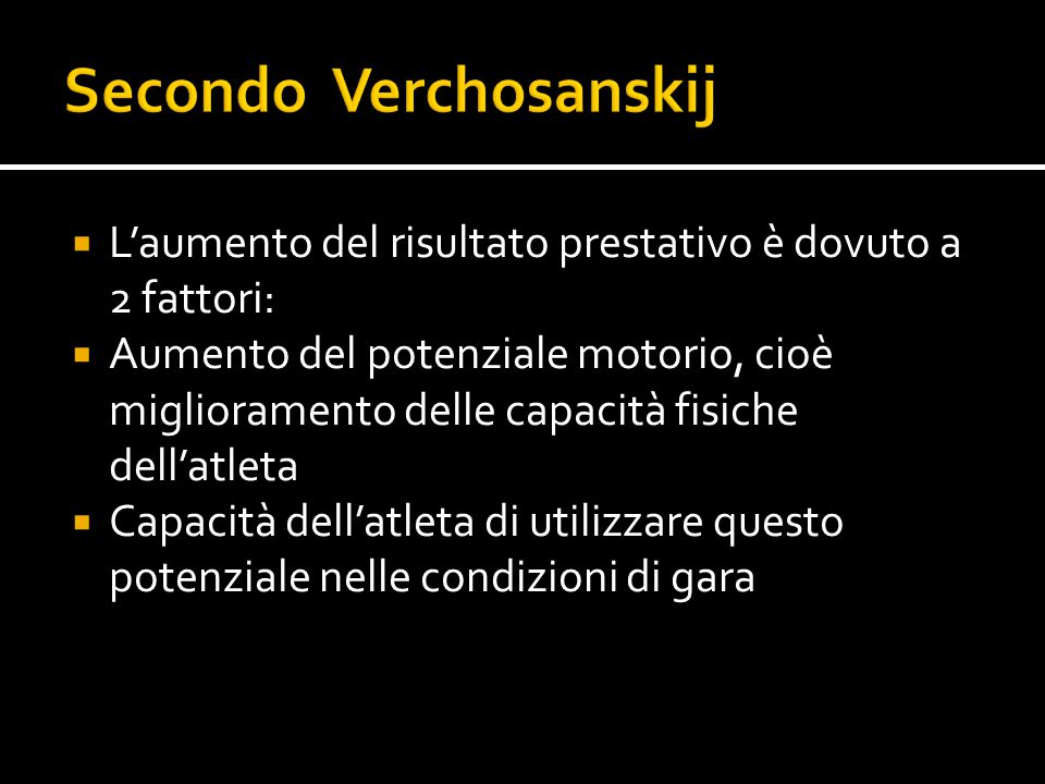 Secondo Verchosanskij