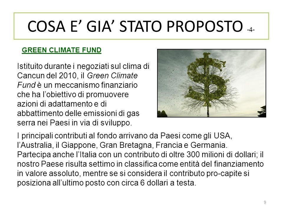 COSA E' GIA' STATO PROPOSTO -4-