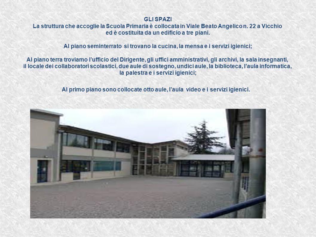 GLI SPAZI La struttura che accoglie la Scuola Primaria è collocata in Viale Beato Angelico n.