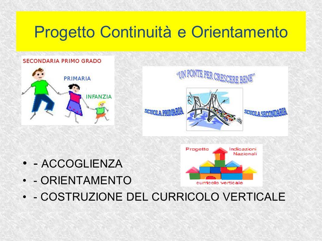 Progetto Continuità e Orientamento