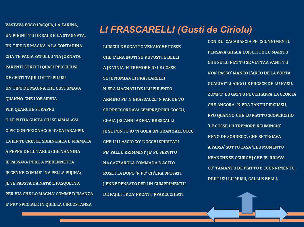 LI FRASCARELLI (Gustì de Ciriolu)