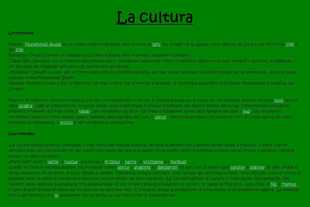 La cultura Letteratura