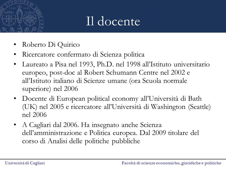 Il docente Roberto Di Quirico