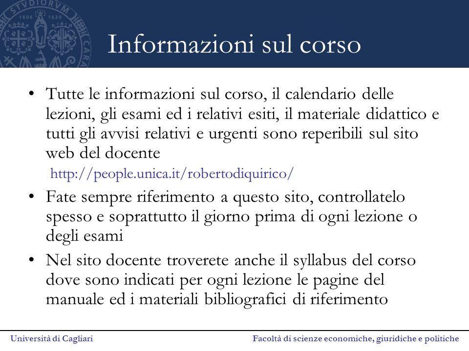 Informazioni sul corso