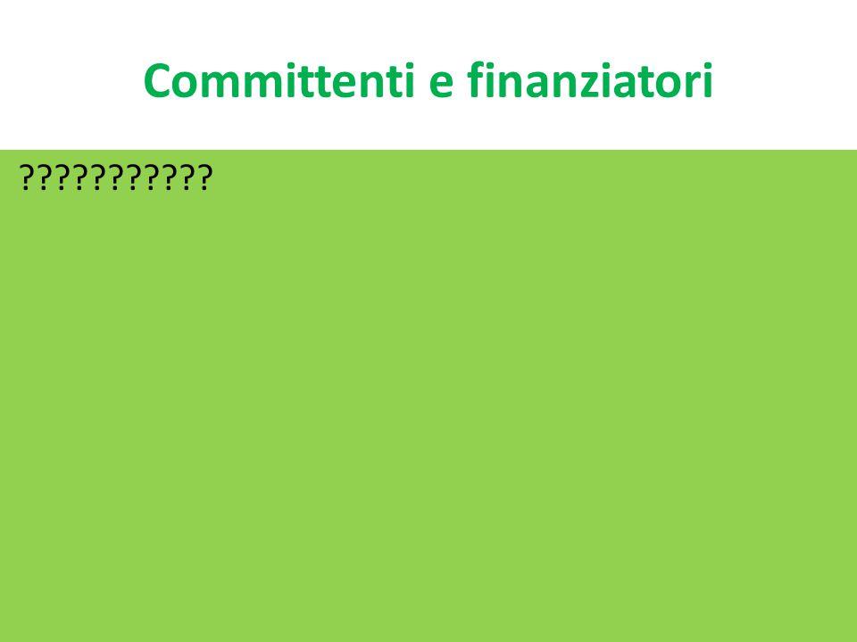 Committenti e finanziatori