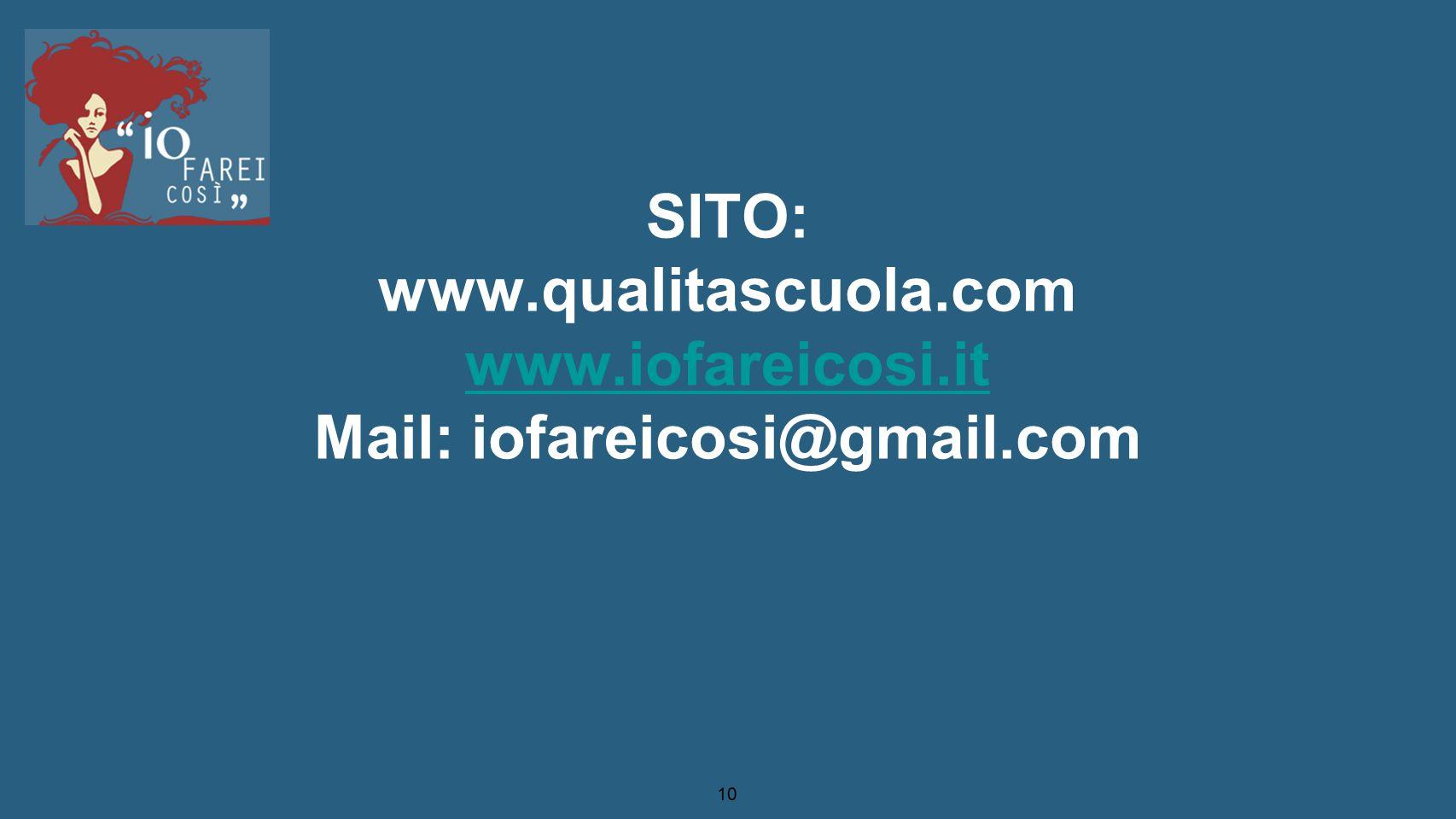 SITO: www. qualitascuola. com www. iofareicosi