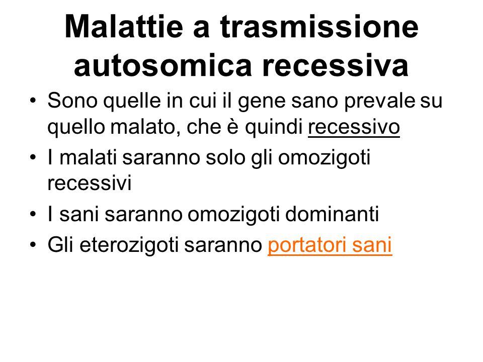 Malattie a trasmissione autosomica recessiva