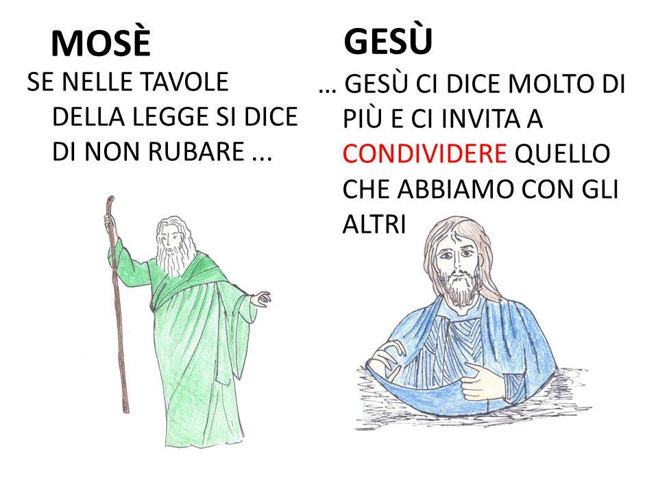 GESÙ MOSÈ SE NELLE TAVOLE DELLA LEGGE SI DICE DI NON RUBARE ...