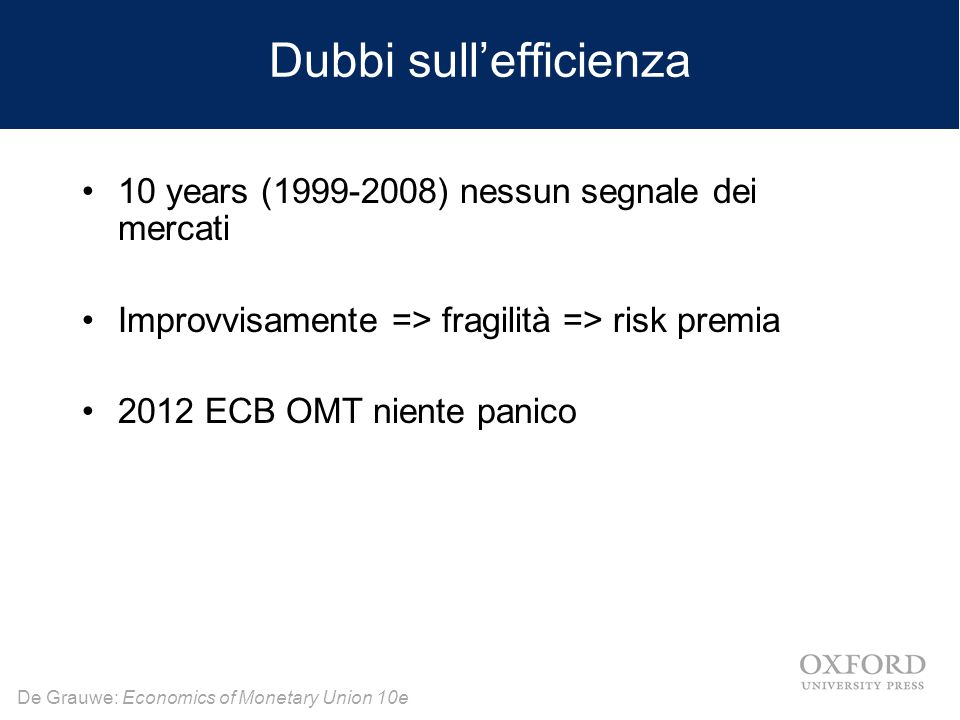 Dubbi sull'efficienza