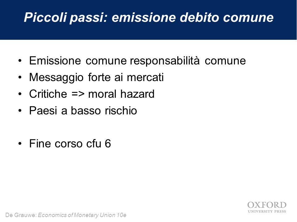 Piccoli passi: emissione debito comune