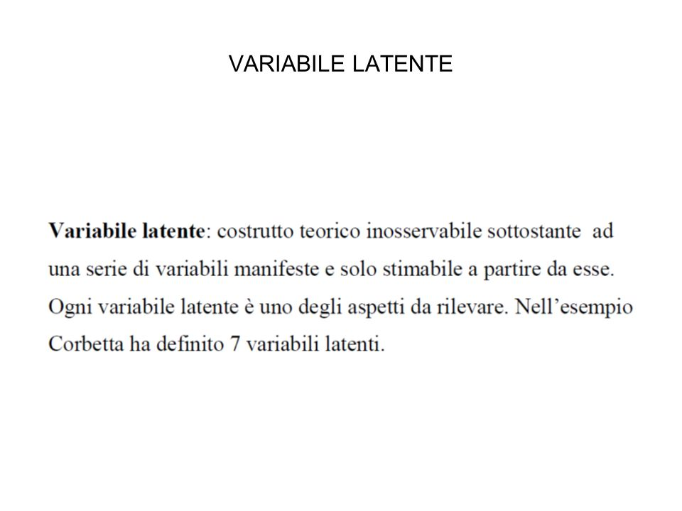 VARIABILE LATENTE