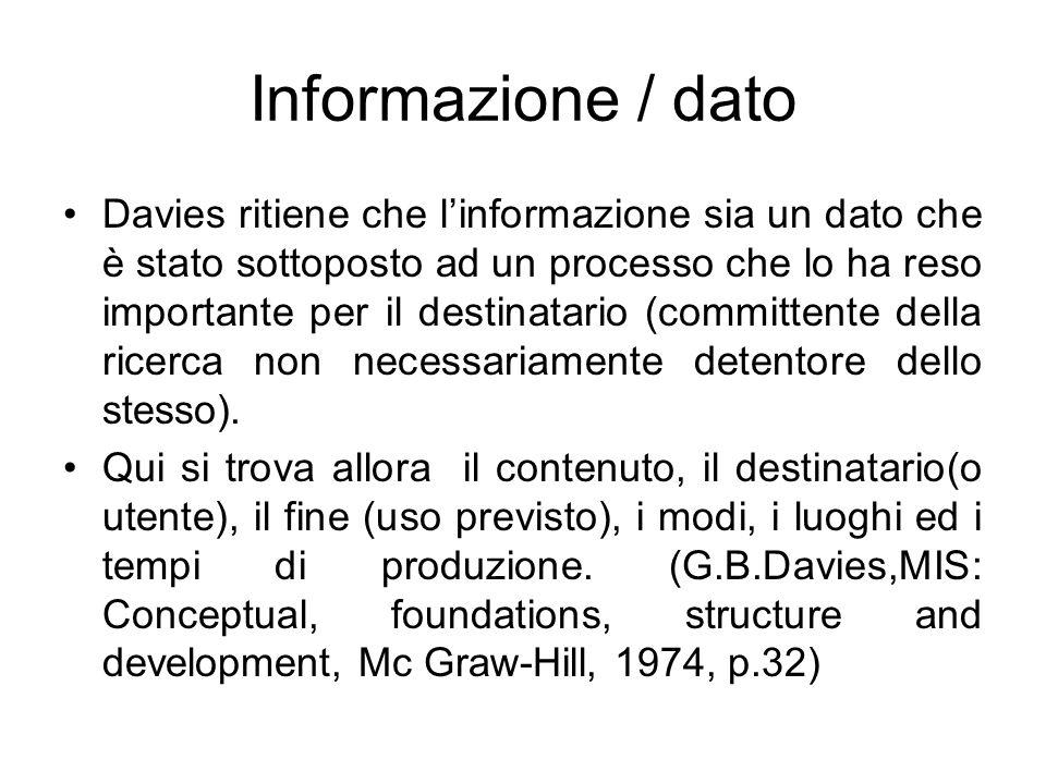 Informazione / dato