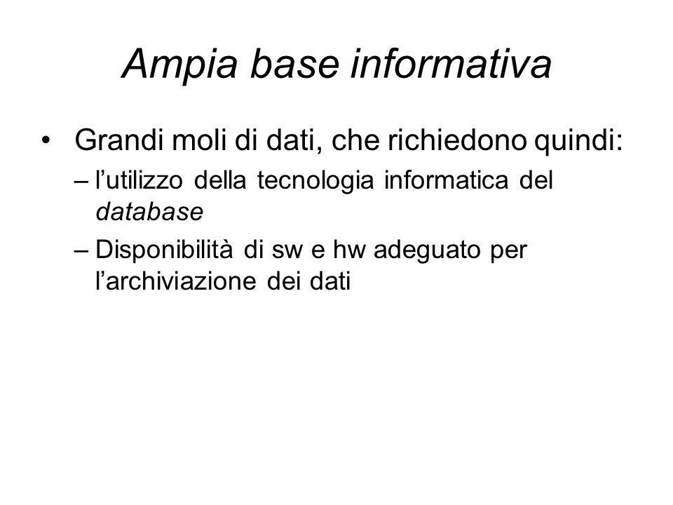 Ampia base informativa