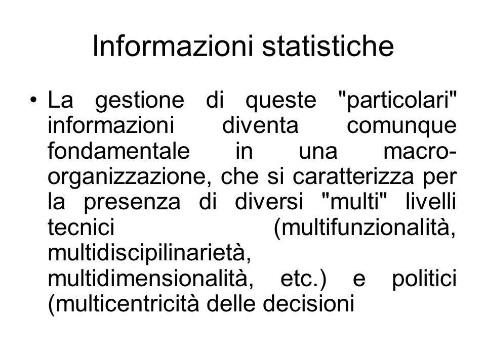Informazioni statistiche