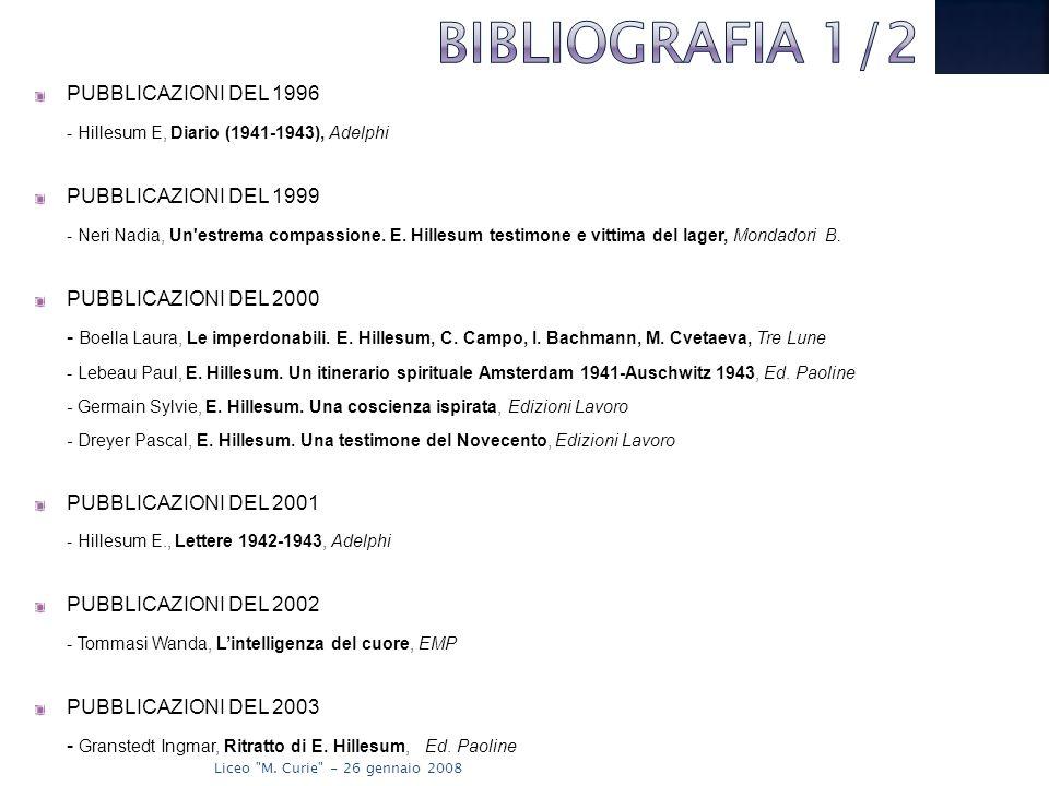 BIBLIOGRAFIA 1/2 PUBBLICAZIONI DEL 1996