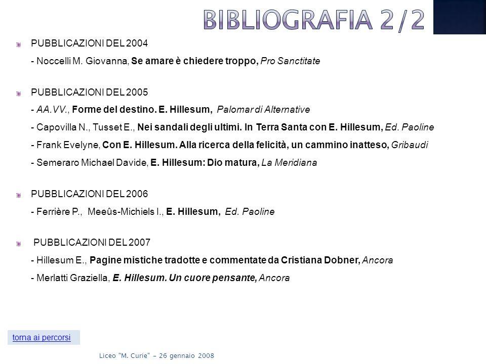 BIBLIOGRAFIA 2/2 PUBBLICAZIONI DEL 2004