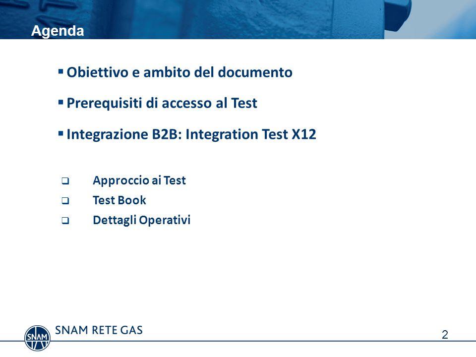 Obiettivo e ambito del documento Prerequisiti di accesso al Test