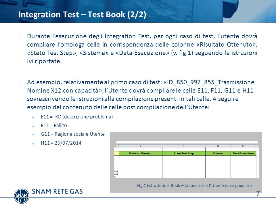 Integration Test – Test Book (2/2)