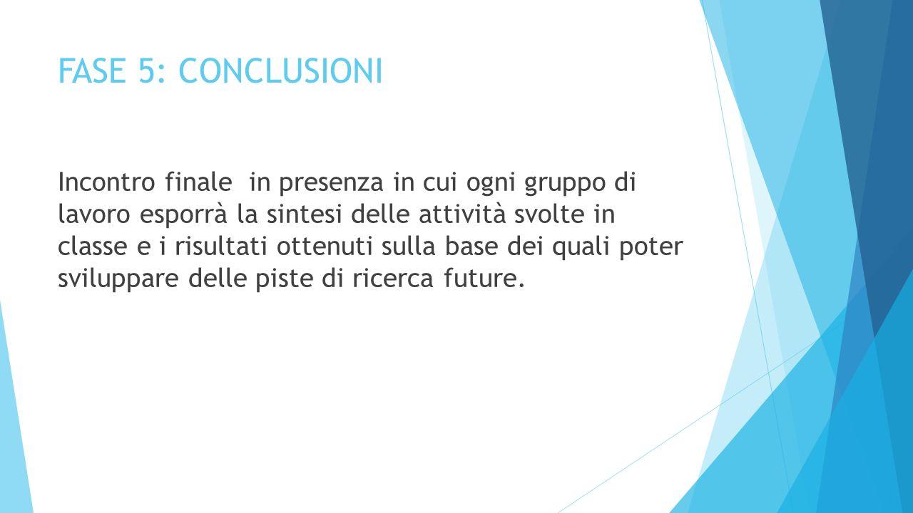 FASE 5: CONCLUSIONI