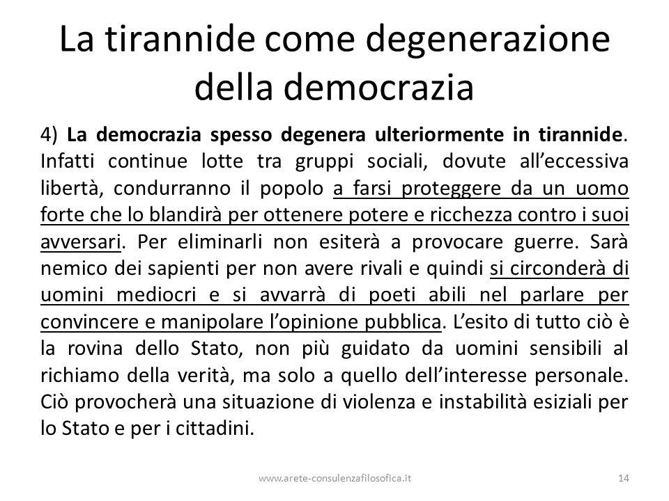 La tirannide come degenerazione della democrazia