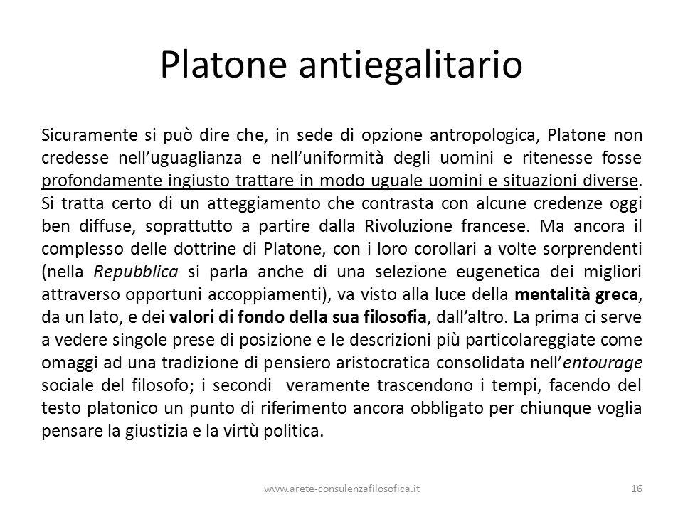 Platone antiegalitario
