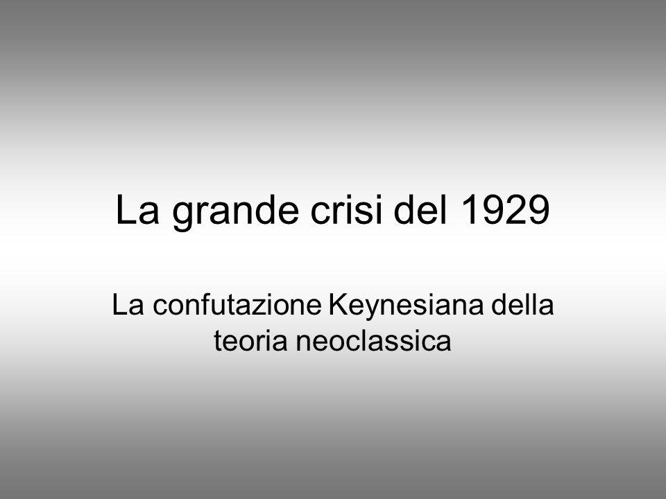 La confutazione Keynesiana della teoria neoclassica