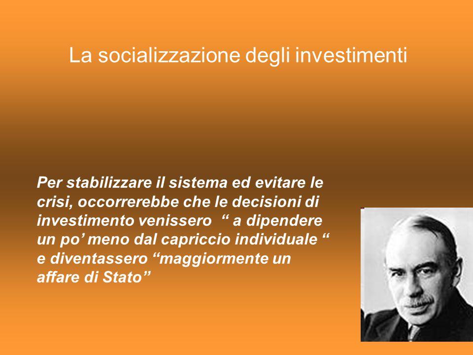 La socializzazione degli investimenti