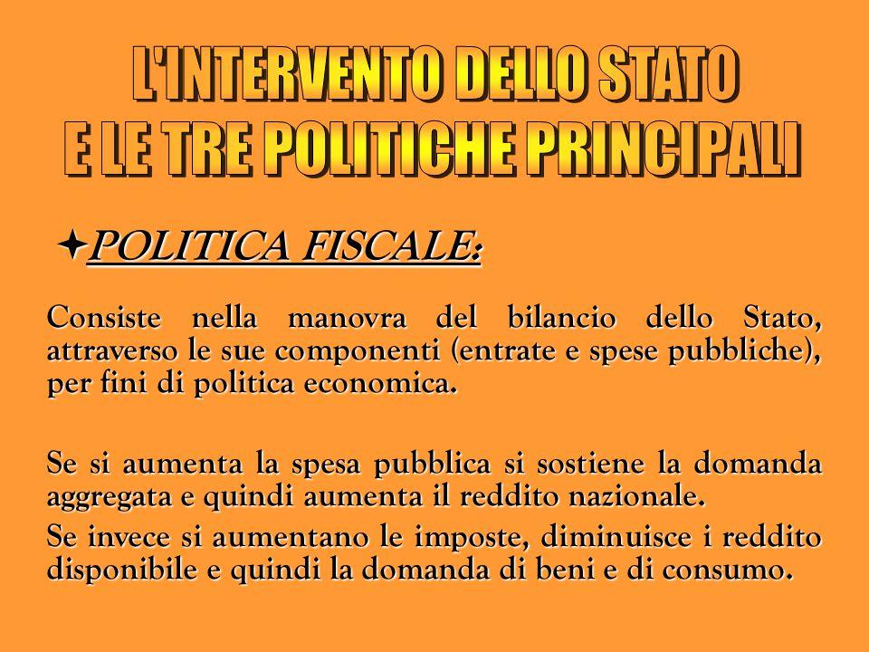 L INTERVENTO DELLO STATO