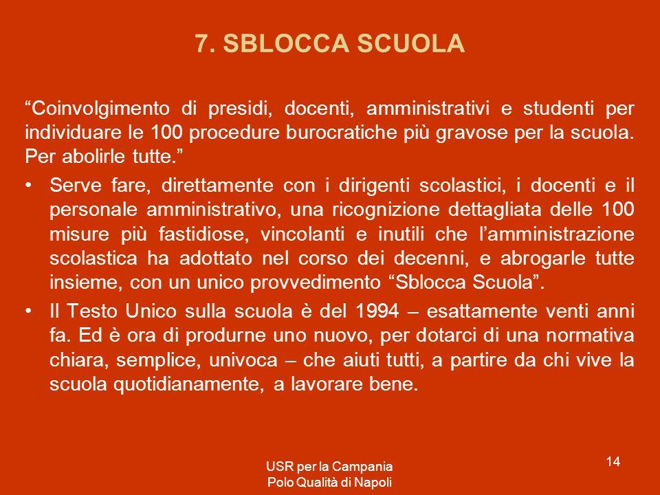 7. SBLOCCA SCUOLA