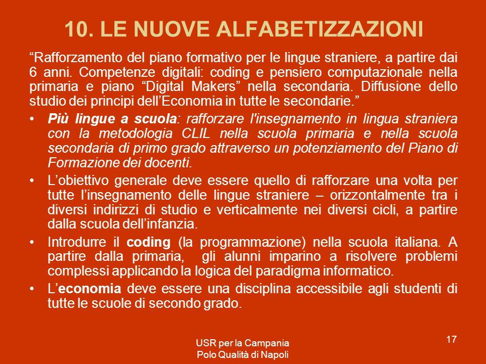 10. LE NUOVE ALFABETIZZAZIONI