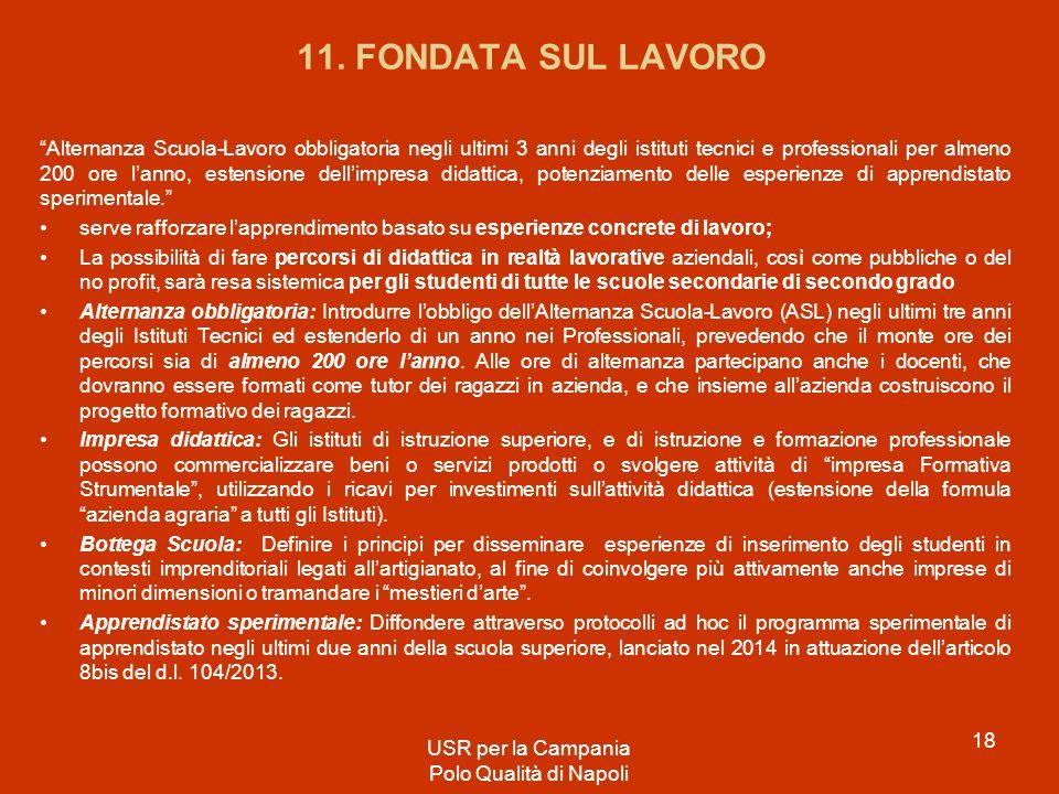 11. FONDATA SUL LAVORO