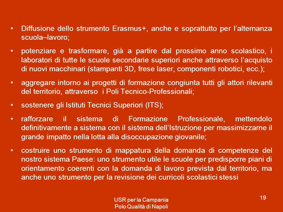 sostenere gli Istituti Tecnici Superiori (ITS);