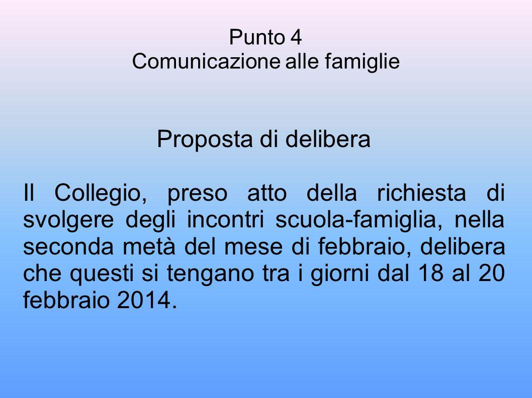Punto 4 Comunicazione alle famiglie