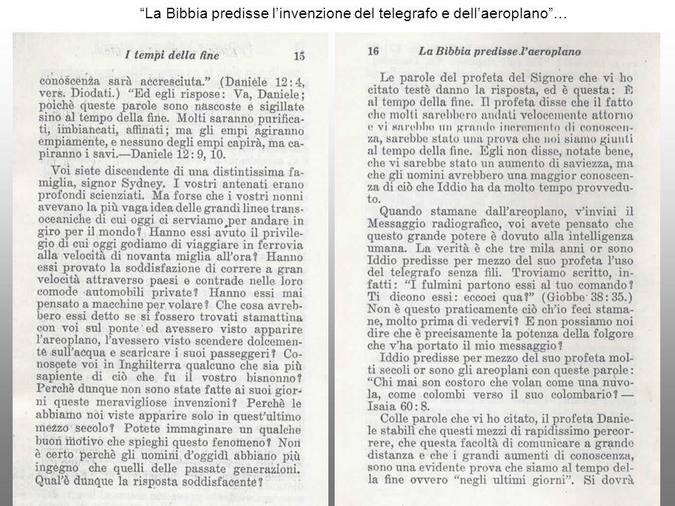 La Bibbia predisse l'invenzione del telegrafo e dell'aeroplano …