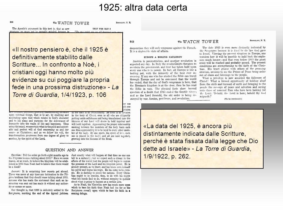 1925: altra data certa