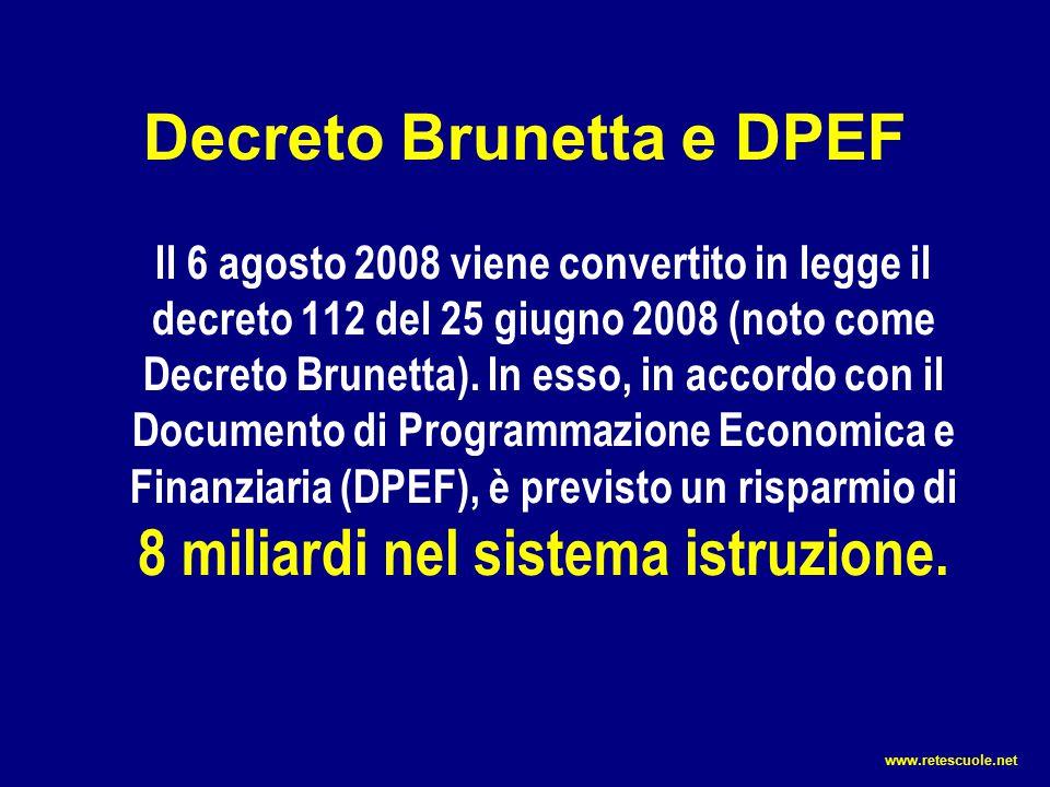 Decreto Brunetta e DPEF