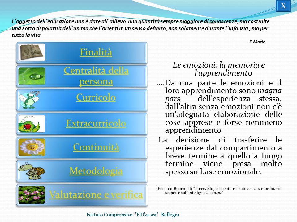 Centralità della persona Curricolo Extracurricolo Continuità