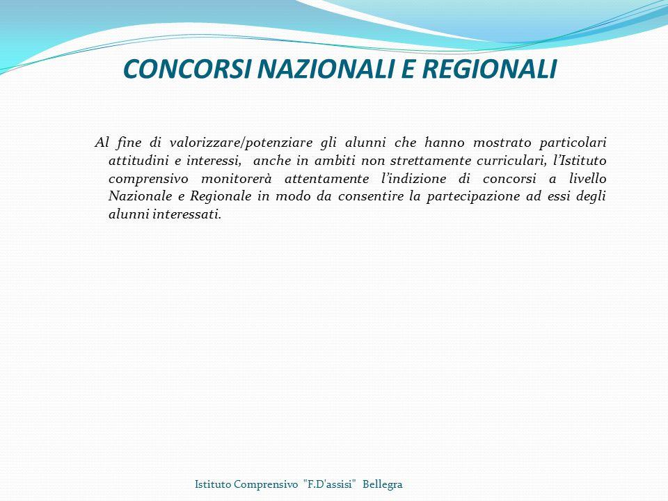 CONCORSI NAZIONALI E REGIONALI
