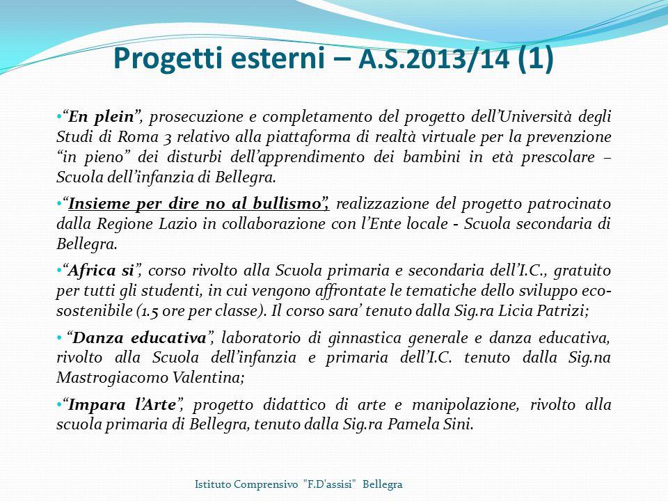 Progetti esterni – A.S.2013/14 (1)