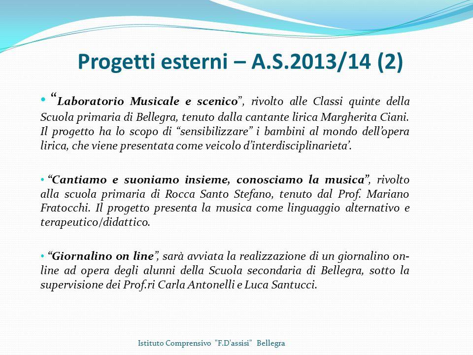 Progetti esterni – A.S.2013/14 (2)