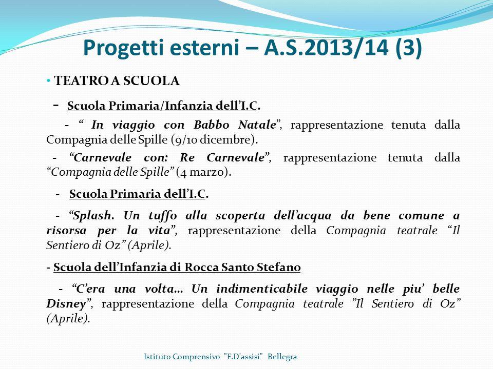 Progetti esterni – A.S.2013/14 (3)
