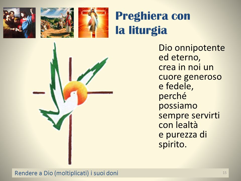 Preghiera con la liturgia