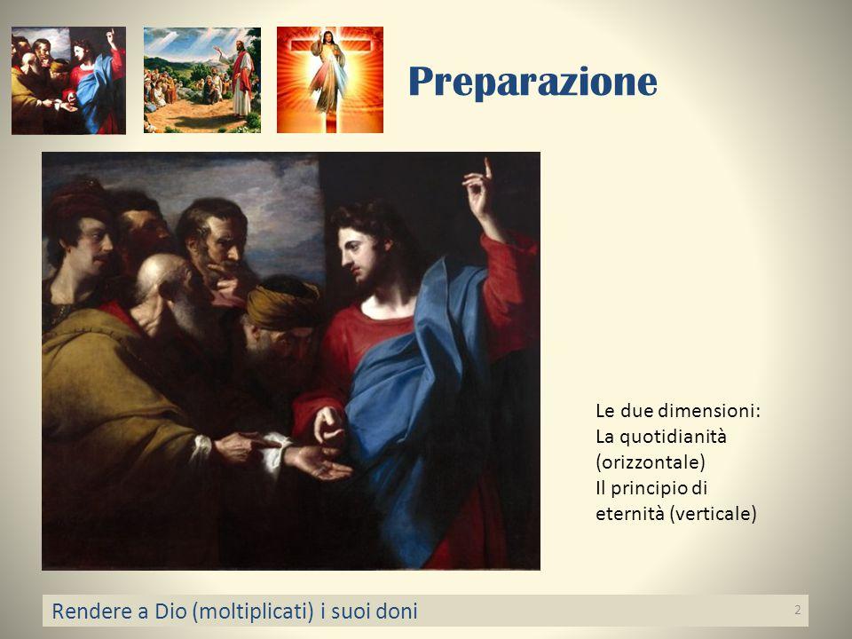 Preparazione Rendere a Dio (moltiplicati) i suoi doni