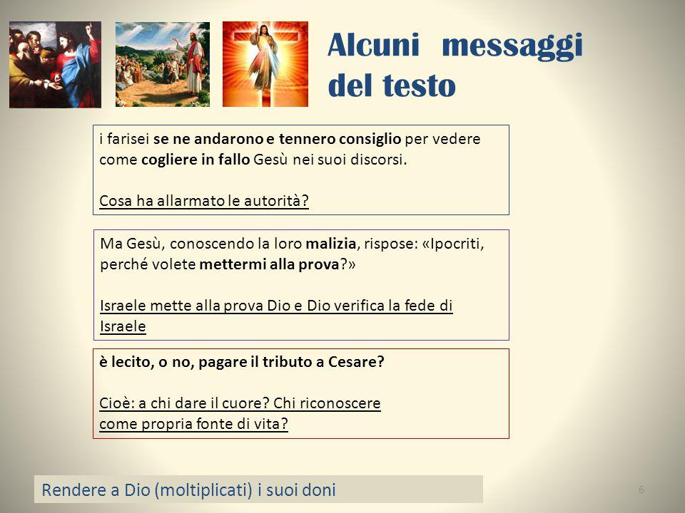 Alcuni messaggi del testo