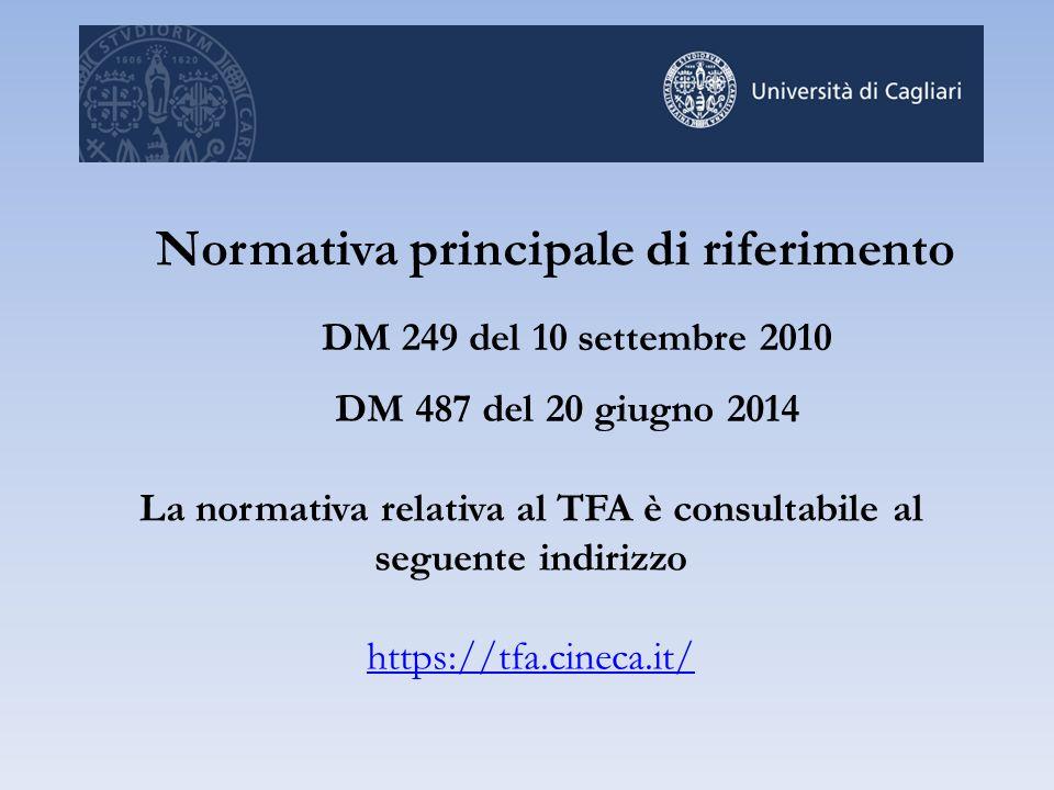 La normativa relativa al TFA è consultabile al seguente indirizzo