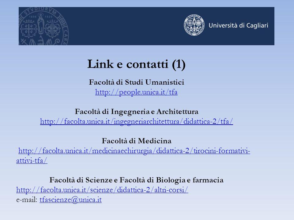 Link e contatti (1) Facoltà di Studi Umanistici