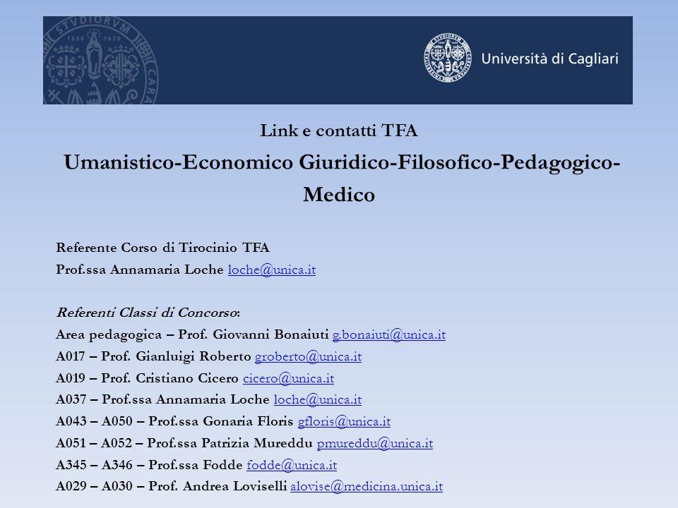 Umanistico-Economico Giuridico-Filosofico-Pedagogico-Medico