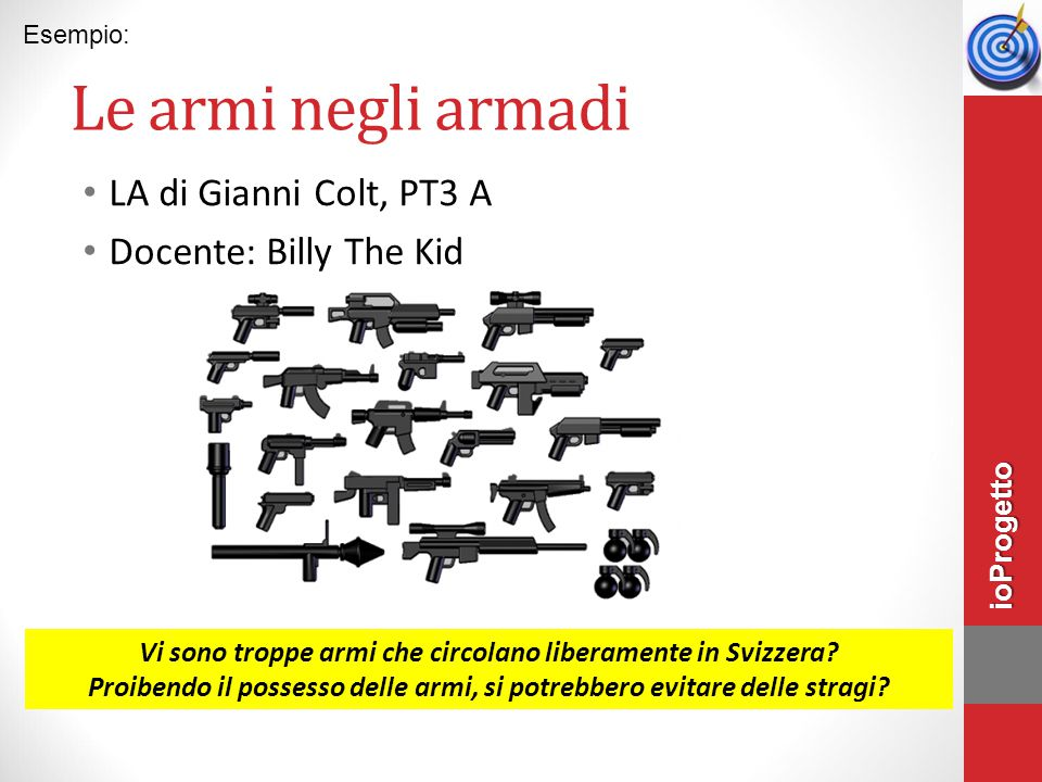Le armi negli armadi LA di Gianni Colt, PT3 A Docente: Billy The Kid