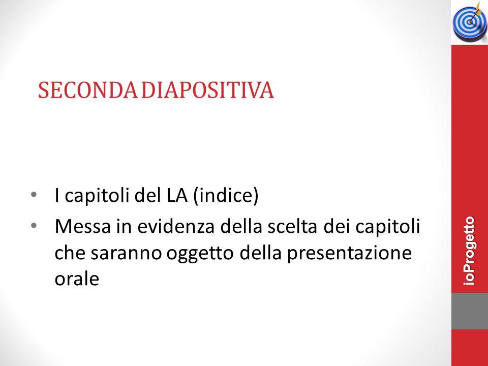 Seconda diapositiva I capitoli del LA (indice)