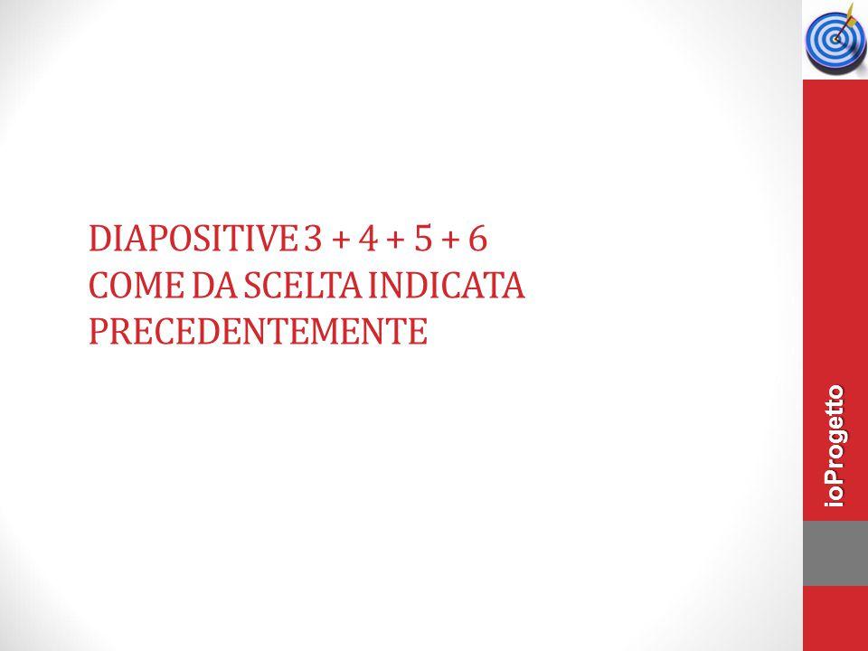 DiaPOSITIVE 3 + 4 + 5 + 6 come da scelta indicata precedentemente